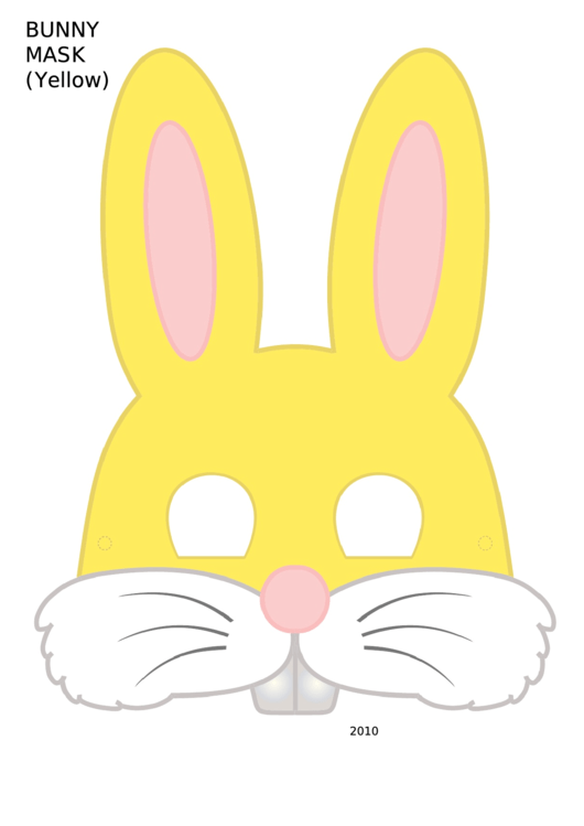 Bunny Mask Template