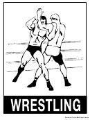 Coloring Sheet - Wrestling