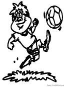 Coloring Sheet - Soccer