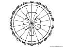 Shamrock Ferris Wheel Coloring Sheet