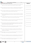 Word To Numeric With Money Worksheet
