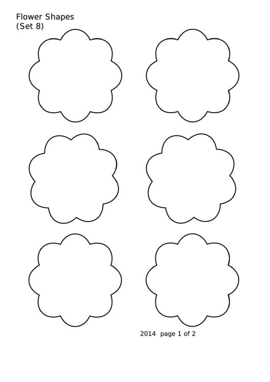 Flower Shapes (set 8) Template