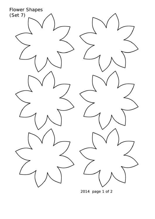 Flower Shapes (set 7) Template
