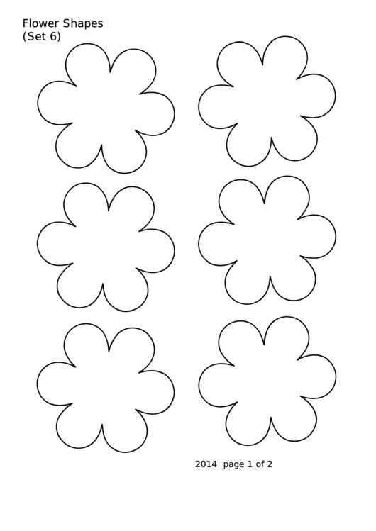 Flower Shapes (set 6) Template