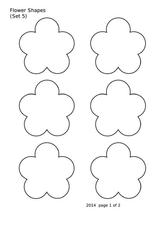 Flower Shapes (set 5) Template