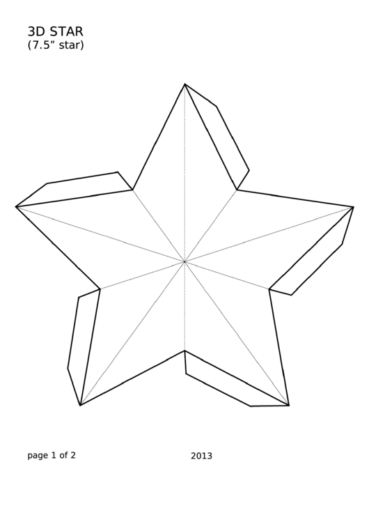 49 Star Templates free to download in PDF