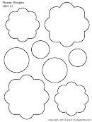 Flower Shapes (set 4) Template