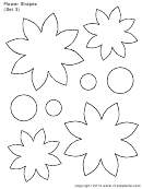 Flower Shapes (set 3) Template