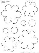 Flower Shapes (set 2) Template