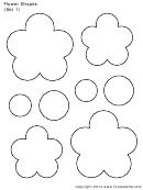 Flower Shapes (set 1) Template
