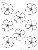 Flowes (set 5) Template