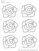 Flowers (set 4 - Roses) Template