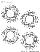 Flowers (set 3 - Sunflowers) Template