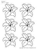 Flowers (set 2 - Lilies) Template