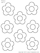 Flowers (set 1) Template