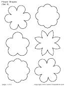 Flower Shapes (set 9) Template