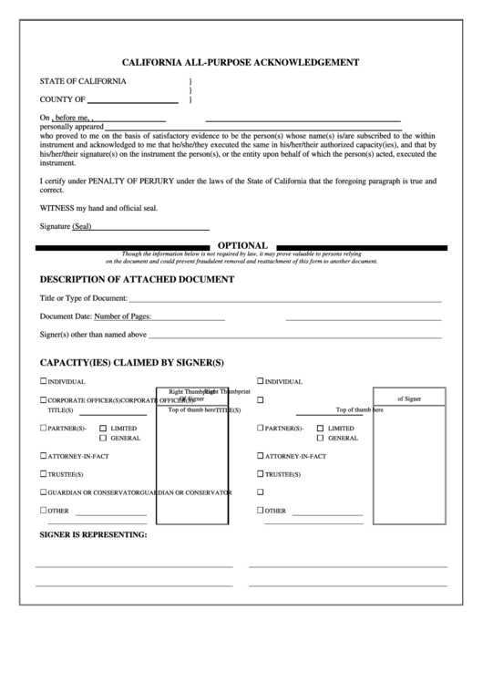 Top 7 California Jurat Form Templates free to download in