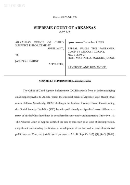 Supreme Court Of Arkansas printable pdf download