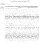 Affidavit Of Eligibility And Liability