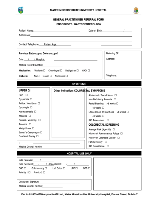 19 Hospital Forms And Templates