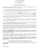 Business Certificate Worksheet Form