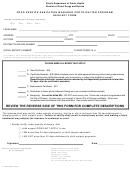 Food Service Sanitation Manager Certification Program Request Form