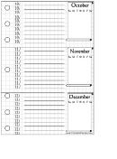 October - December Planner