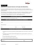 Form Nyspl - Application For Special Services For People With Disabilities - Verizon