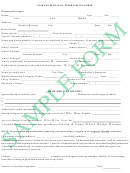 Sample Medical Permission Form