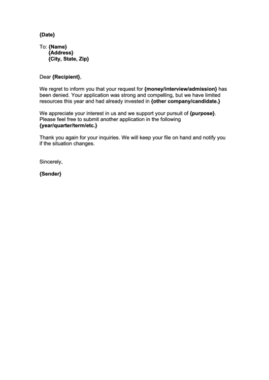22 Job Rejection Letter free to download in PDF