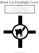 Black Cat Flashlight Template