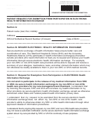Patient Request For Exemption From Participation In Electronic Health Information Exchange