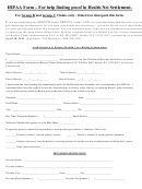 Hipaa Form Authorization To Release Health Care Billing Information