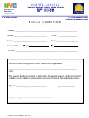 Medical Excuse Form