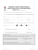 Verification Of Day Care Enrollment Form