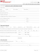 Day Care Center Enrollment Form