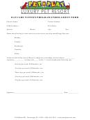 Daycare Tuition Program Enrollment Form