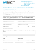 Prescribing Physician Request For Medicare Part D Prescription Drug Coverage Determination Form