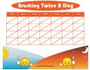 Tooth Brushing Chart Schedule