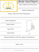 State Research Report Template - Rhode Island
