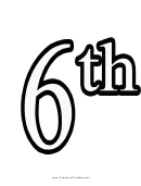 Number 6 Template