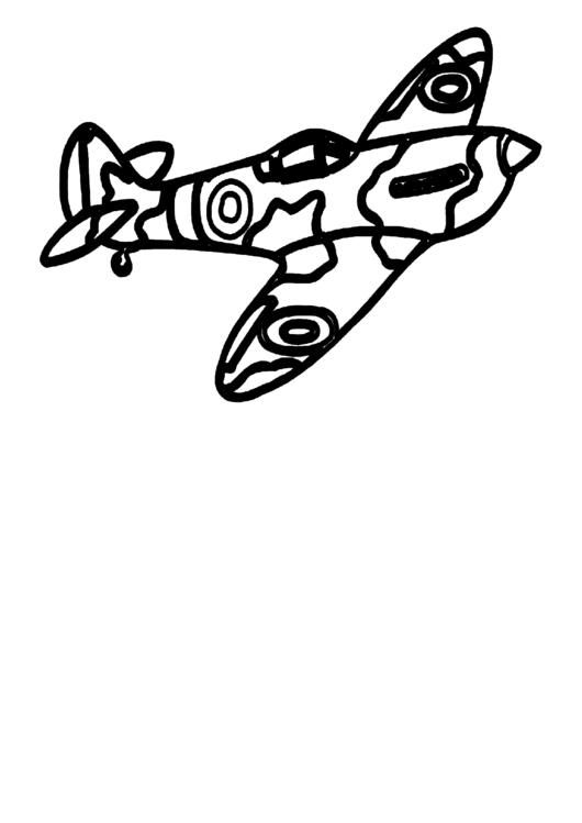 Airplane Coloring Sheet Printable pdf