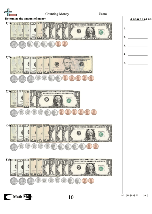 Counting Money Worksheet Printable Pdf Download