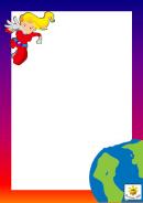 Super Hero Page Border Template