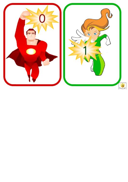 Super Hero Number Card Templates - 0-30 Printable pdf