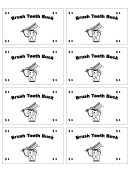 One Brush Teeth Buck Template
