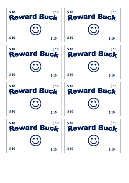 10 Reward Bucks Template Blue Printable Pdf Download