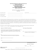 Advance Payment Request Form - North Carolina Department Of Health And Human Services