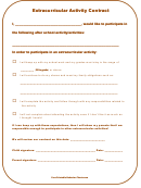 Extracurricular Activity Contract Template