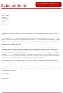 Retail Manager Cover Letter Template